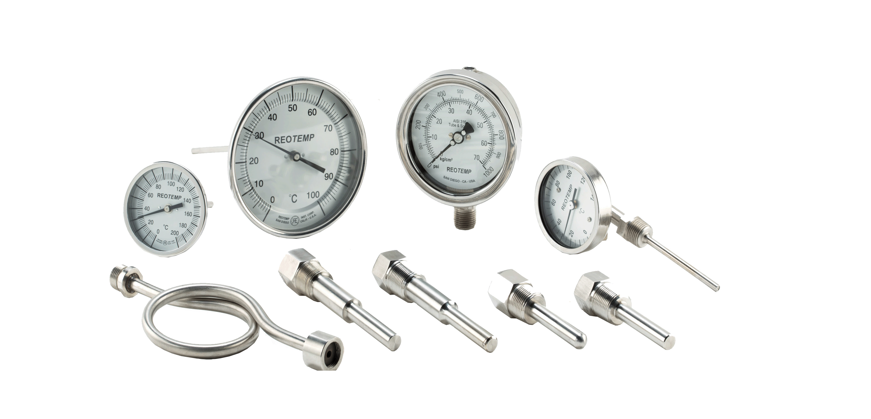 Thermometers & Pressure Gauges